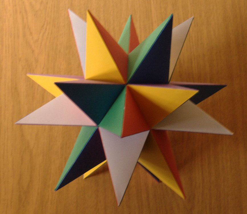 Small Stellated Dodecahedron -- from Wolfram MathWorld | 750x866